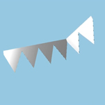12pp die cut bunting shaped mailer