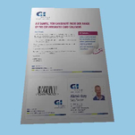 Digital A4 letter with integrated personalised pass card
