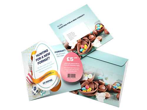 4pp Easter Egg OPM and Tip-on Egg Shaped Card - CF300